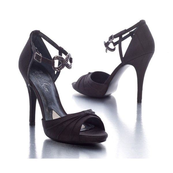 #Tall #Dark and #Gorgeous #Black #Bridal #Shoes <3 www.weddingworthy.com <3