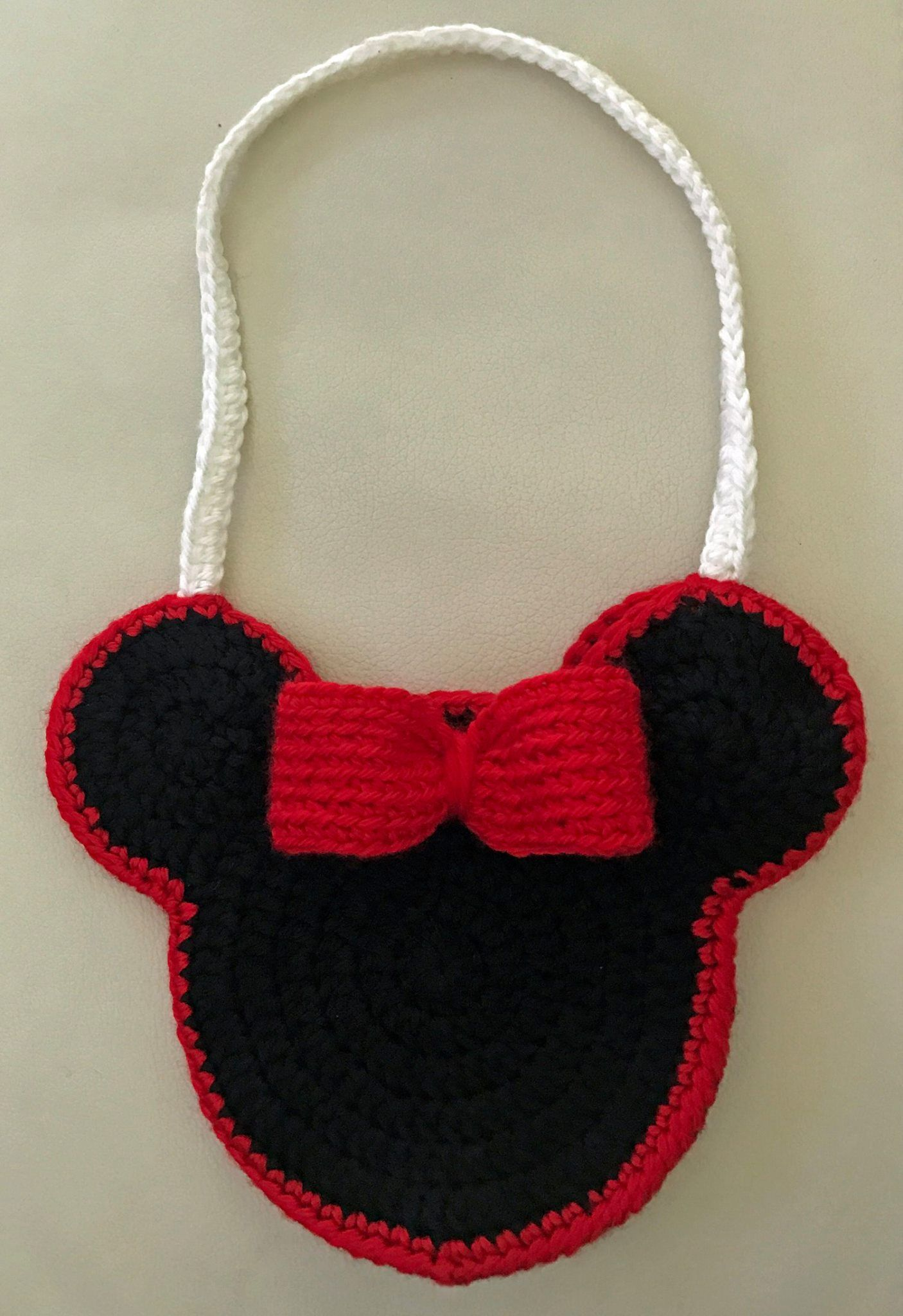 Crochet Mickey Mouse Inspired Child S Bag Crochet Mickey Mouse Mickey Mouse Purse Crochet