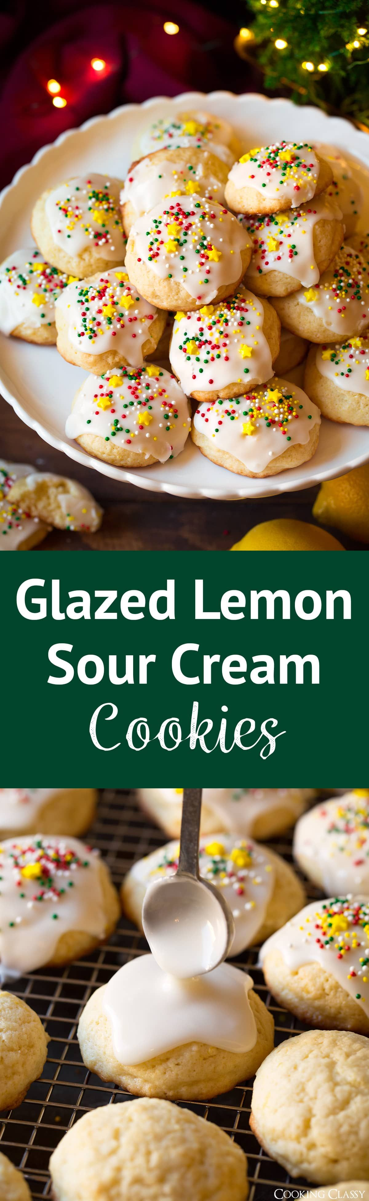 Glazed Lemon Sour Cream Cookies A Melt In Your Mouth Flavorful Super Soft Cookie That S To Sour Cream Cookies Sugar Cookies Recipe Sour Cream Sugar Cookies