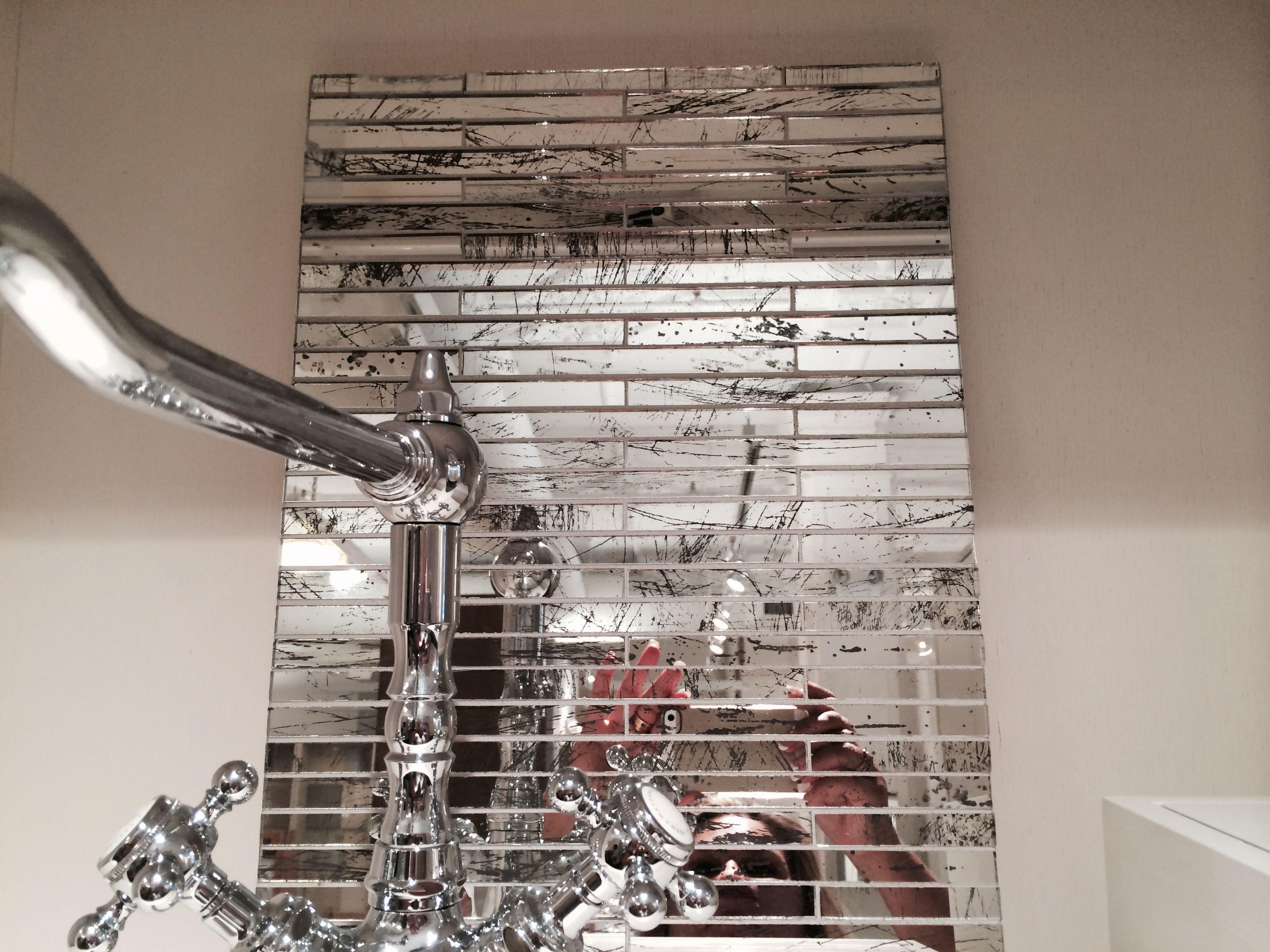 WATERWORKS= loved this. REPOSE glass veneer, 1/2 x 6 brick bond ...