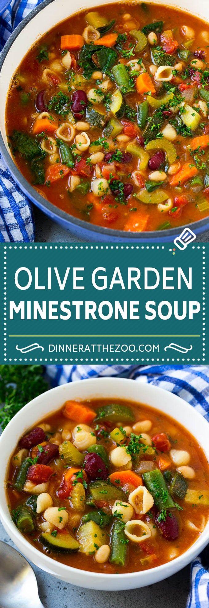 Olive Garden Minestrone Soup Recipe | Minestrone Soup | Copycat Recipe #minestro…