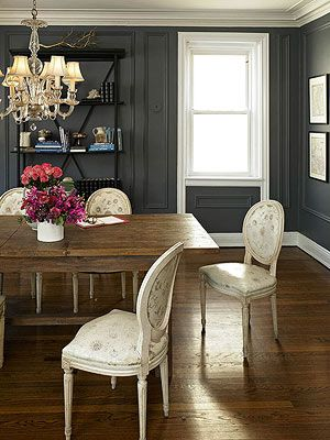 Often Featured In Old Homes Wall Trim Conveys Traditional Flair This Dining Room The Was Painted Same Color As Walls Which Allows It To