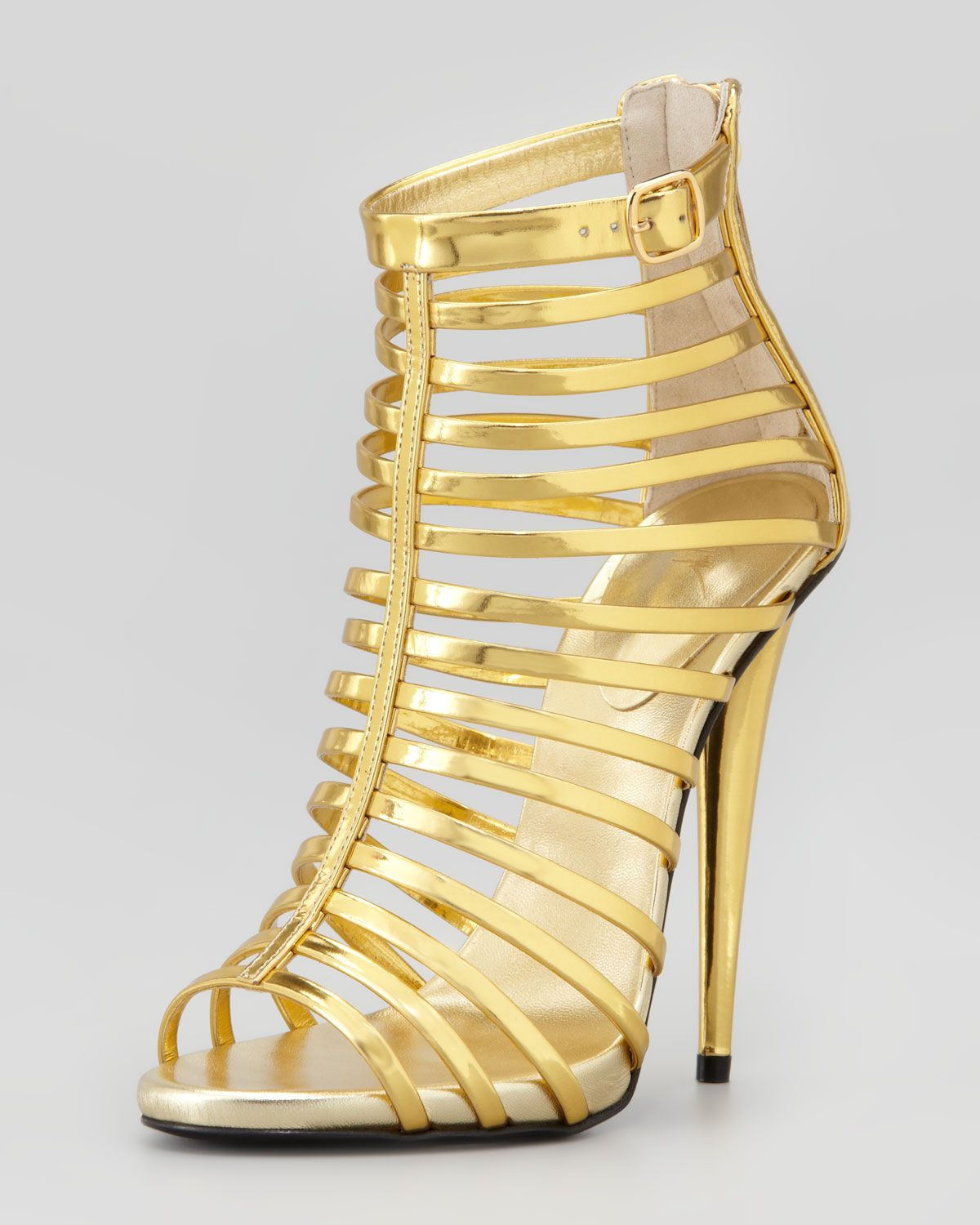 Designer Gold High Heel Gladiator Sandals | Shoes | Pinterest ...