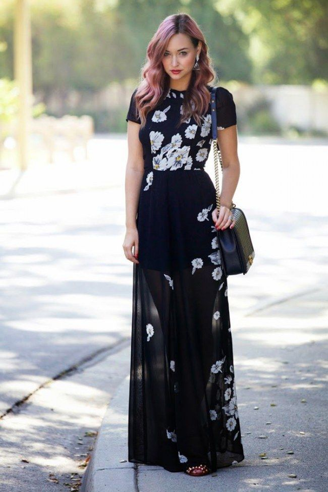 50 stylish wedding guest dresses that are sure to impress for Black floral dress to a wedding