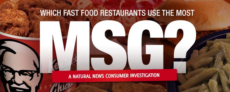 Which fast food restaurants use the most MSG?