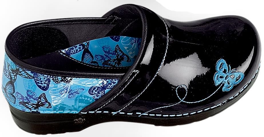 Nursing Shoes - Koi By Sanita Haley Blue Professional Clog ...