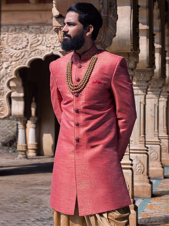 Silk Wedding Indo Western   Outfits   Pinterest