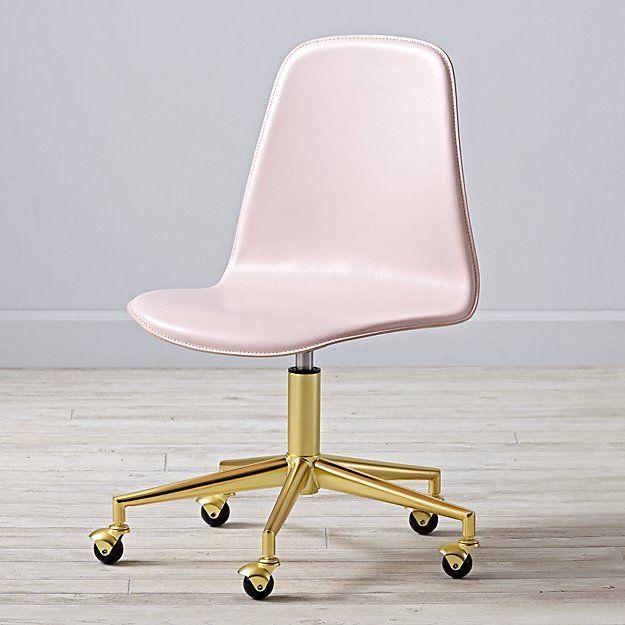 Class Act Pink Gold Desk Chair Pink Desk Chair Gold Desk
