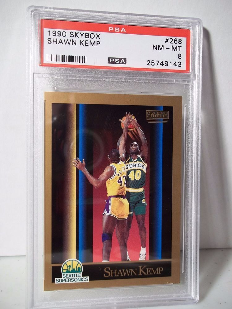 1990 Skybox Shawn Kemp RC PSA NMMT 8 Basketball Card 268