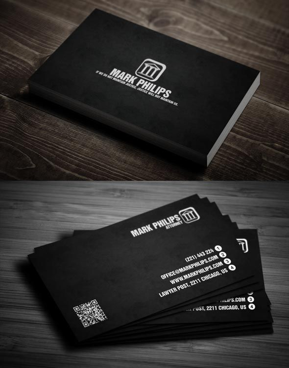 40 Awesome Lawyer Business Card for Your Inspiration Business card