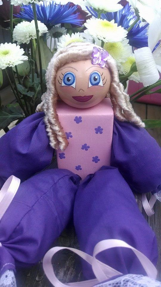 Wooden Doll filled with Potpourri Vannila Scent by MTDesignsCrafts, $16.00