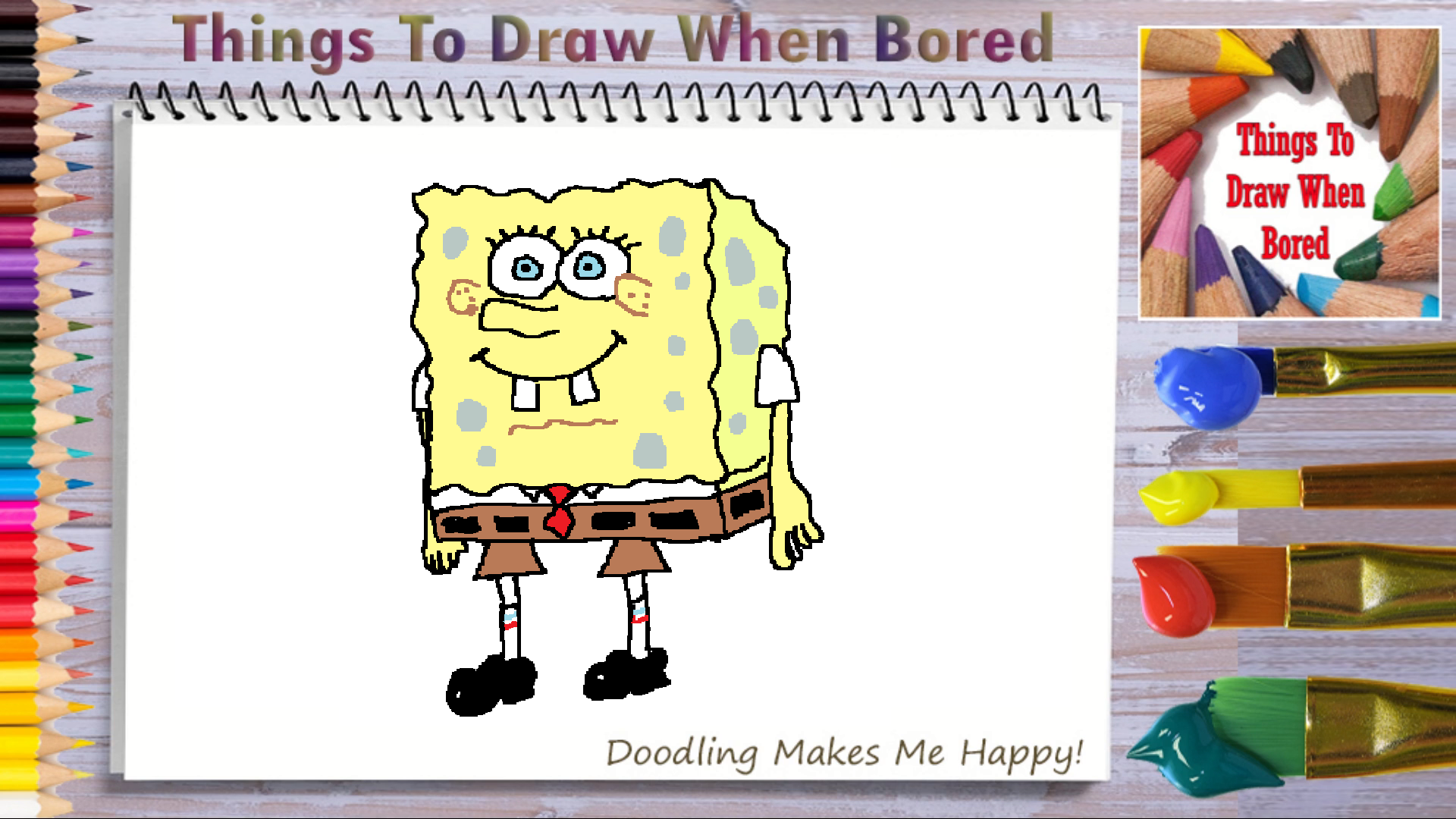How To Draw Spongebob Things To Draw When Bored