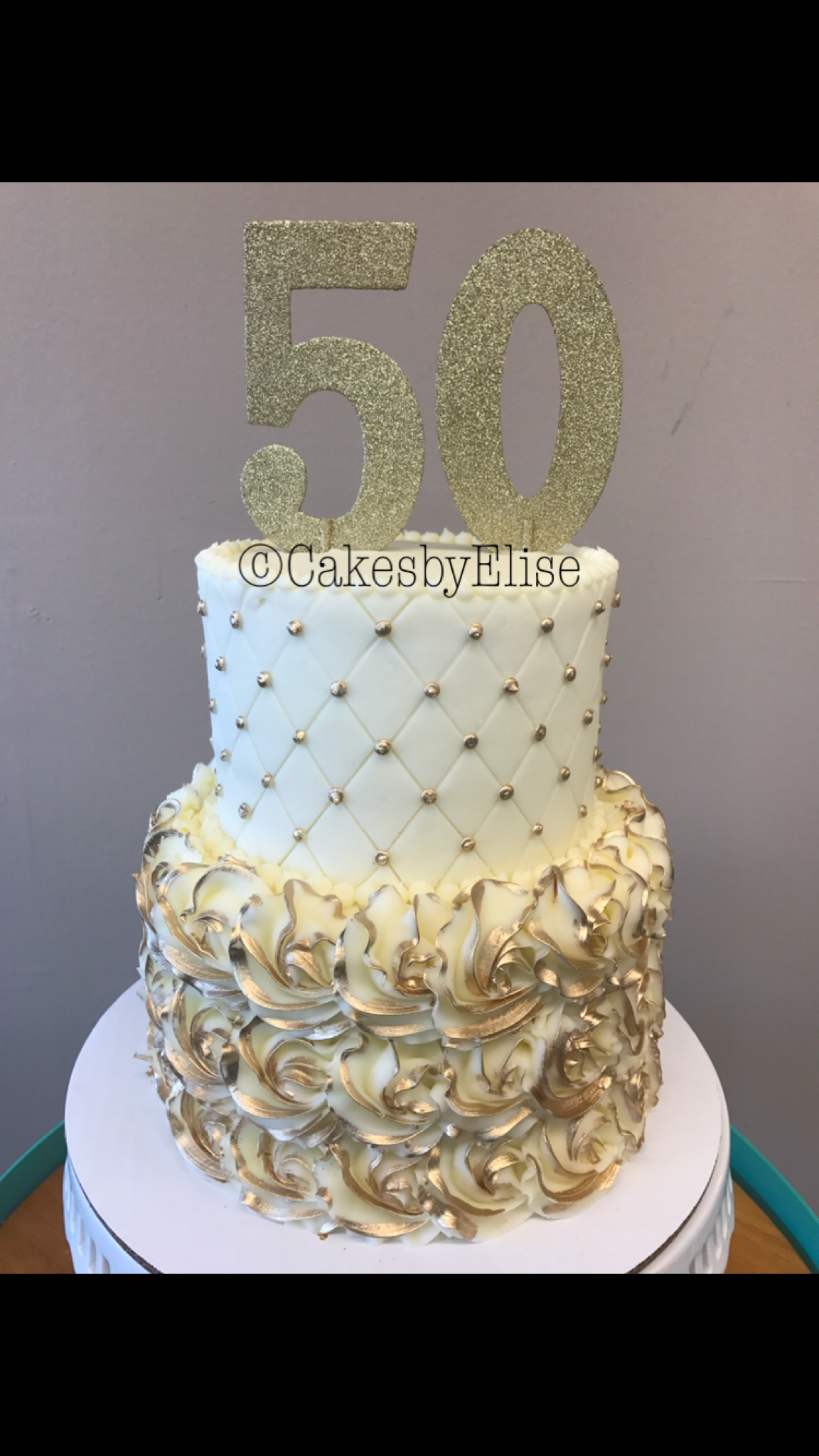 50th Anniversary Cake Golden Wedding Anniversary Cake 50th