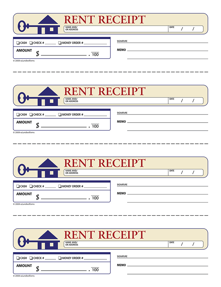 Rent Receipts Free Printable Documents Being A Landlord Rental Agreement Templates Rent