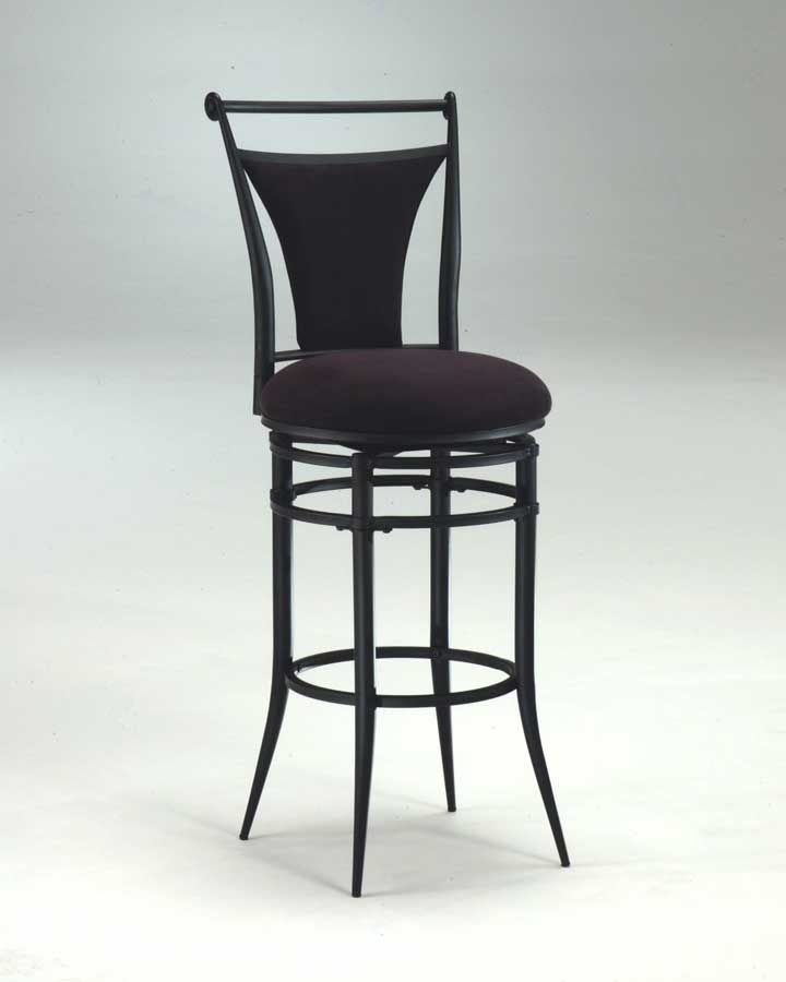 Hillsdale Cierra Metal Swivel Barstool Black Fabric