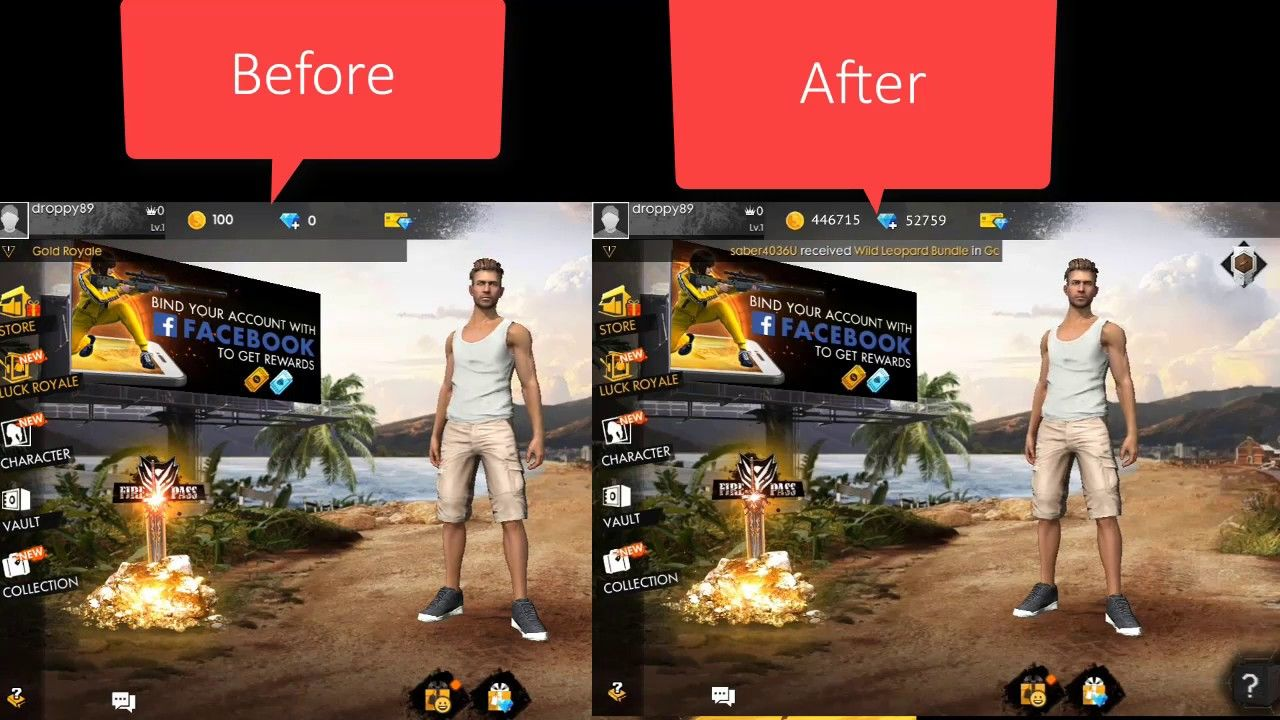 Garena Free Fire Hack - 90000 Diamond Cheats Android & iOS