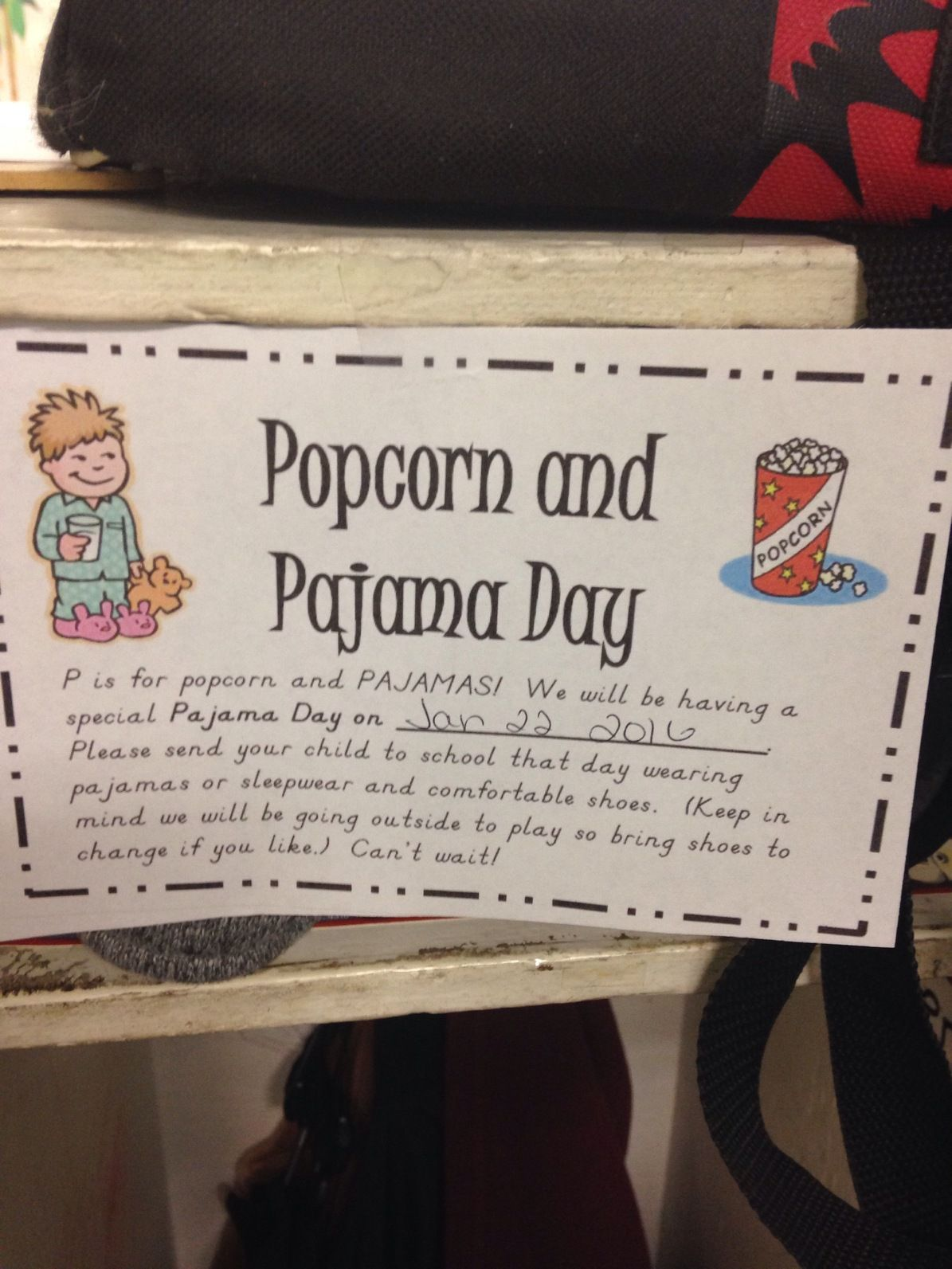 P Is For Popcorn And Pajama Party