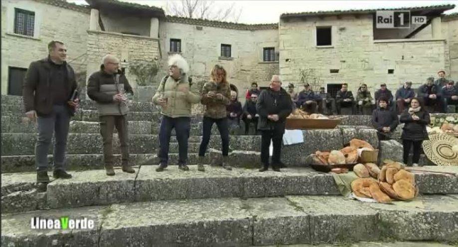 Il Pane di #Matrice ospite a @lineaverderai puntata del 9 marzo 2014! #ilveropanediunavolta #Altilia #scopriilMolise