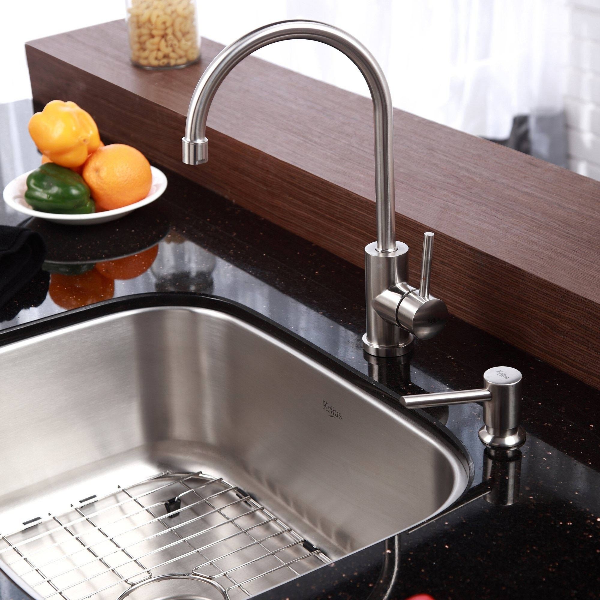 kitchen sink soap dispenser with granite countertop | House ...
