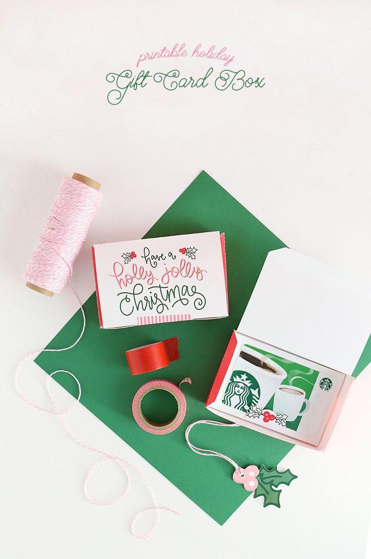 Free Printable Gift Card Box - Persia Lou