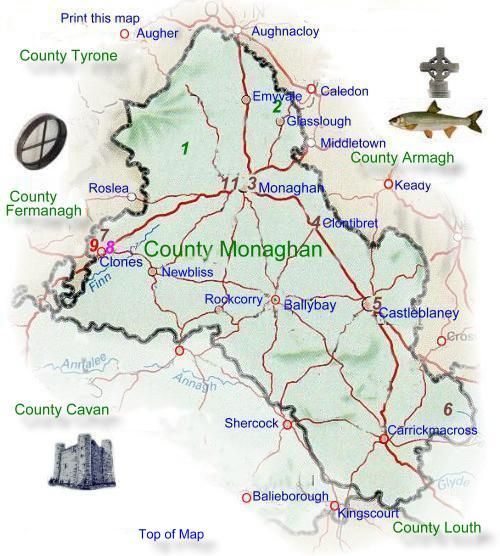 Map Of Ireland Cavan.County Monaghan In Ireland Our Ancestral Name Of Brady Is Found