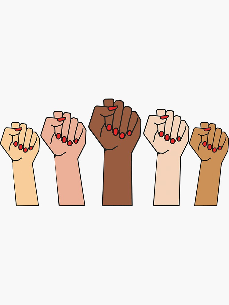 Fists Up Power To The Girls Sticker By Mpoweredwomen Redbubble Black Lives Matter Sticker Black Lives Matter Art Black Lives Matter