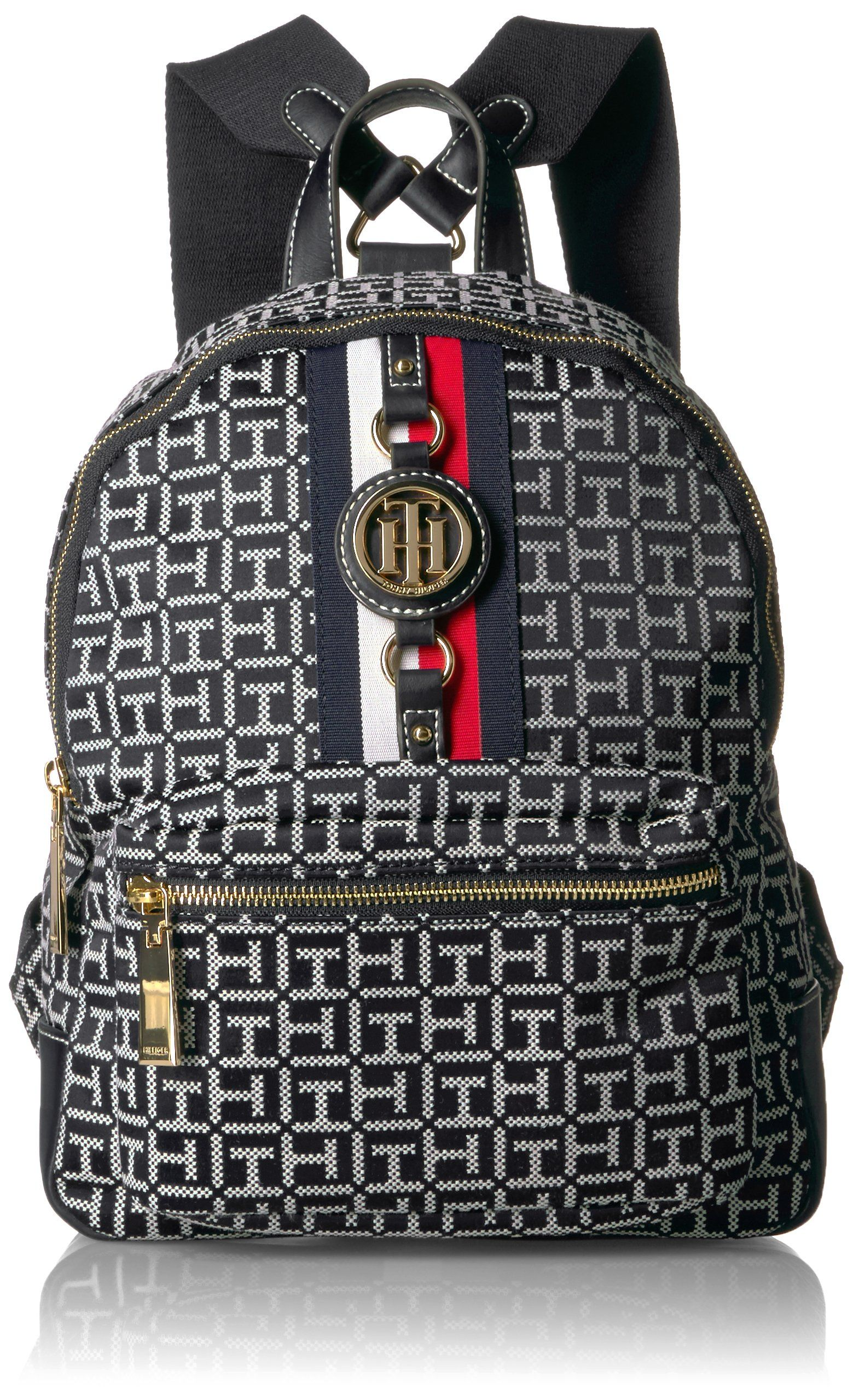 Tommy Hilfiger Women S Backpack Jaden Black White Amazone Vetements Hero Academia