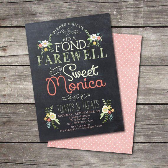 PRINTABLE Vintage Chalkboard Farewell Party Invitation Vintage - farewell invitation template