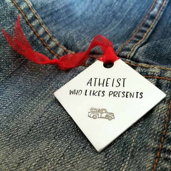 Atheist Christmas Present Funny Ornament | Funny ornaments ...