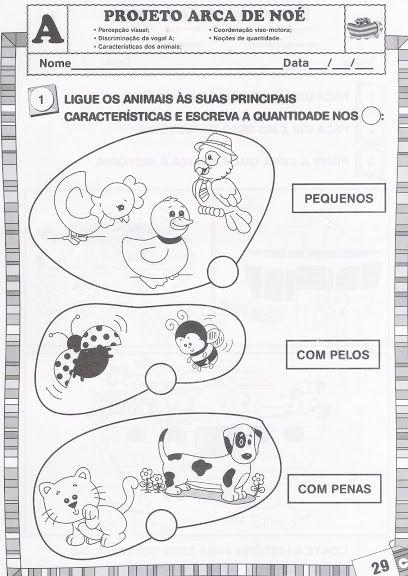 Projeto Arca De No C3 A9 Animais Para Imprimir Atividades 2818 29