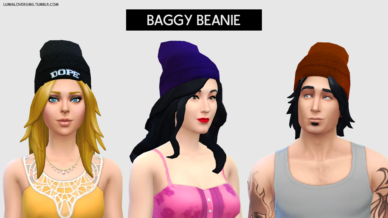 My Sims 4 Blog: Baggie Beanies for Males & Females by