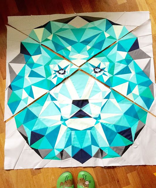 lalala patchwork, quilting & more: Jungleabstractions - ein Löwe ...