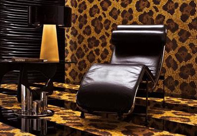 Bisazza leopard floor and walls mosaic tiled looks pinterest