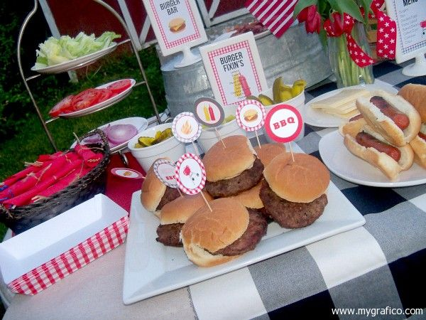 Backyard Burger Parties