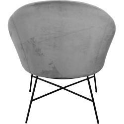 Photo of Lounge chair | Velvet armchair gray – Malou