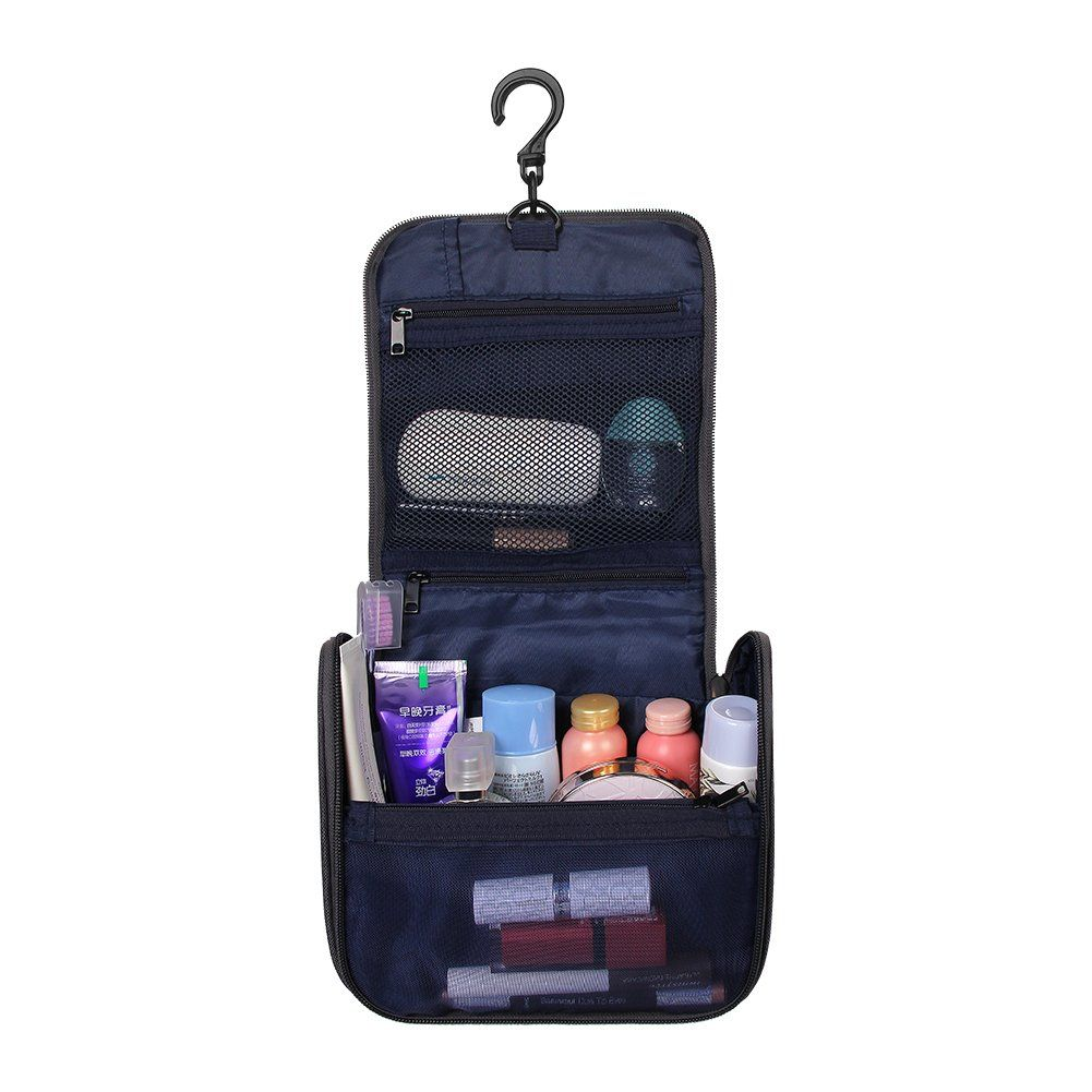Toiletry Bag Travel WATERFLY Mini Toiletries Bag Makeup Cosmetic Bag Sturdy  Hanging Organizer for Women Men 07be86480b