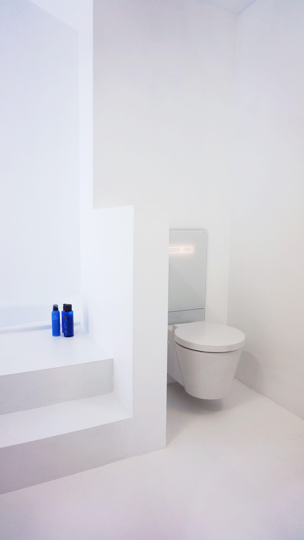 bathroom innenarchitektur badezimmer boden weisse pu beschichtung, Hause ideen