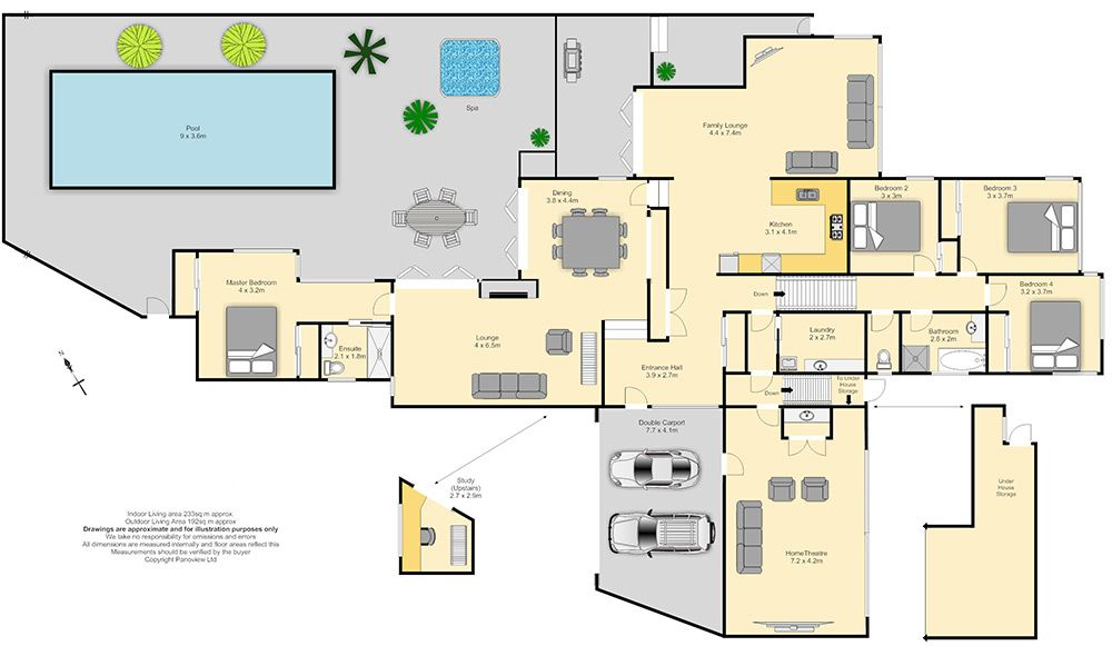 Big house blueprints excellent set landscape fresh at big Pool house floor plans free