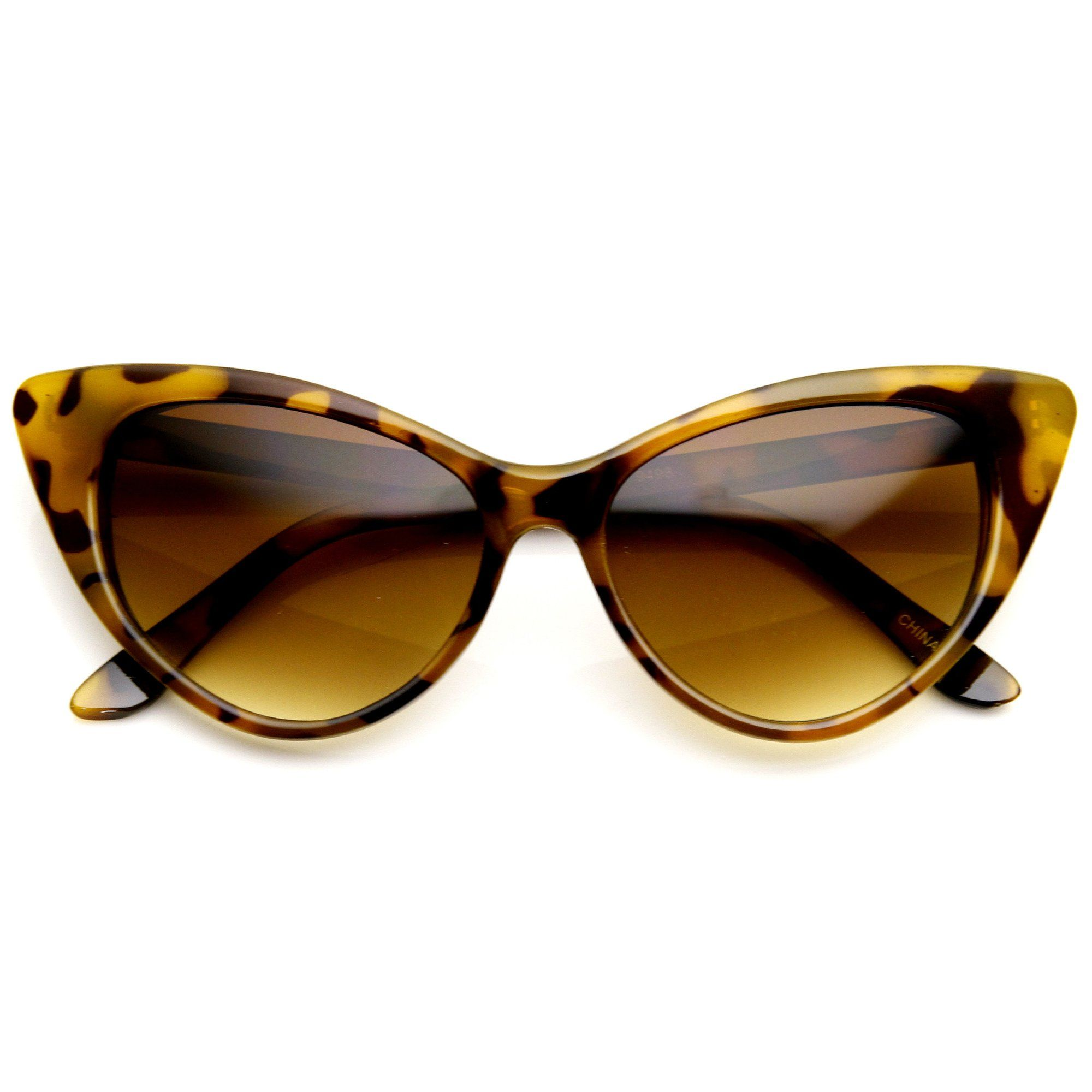 Womens Fashion Hot Tip Pointed Vintage Cat Eye Sunglasses 8371