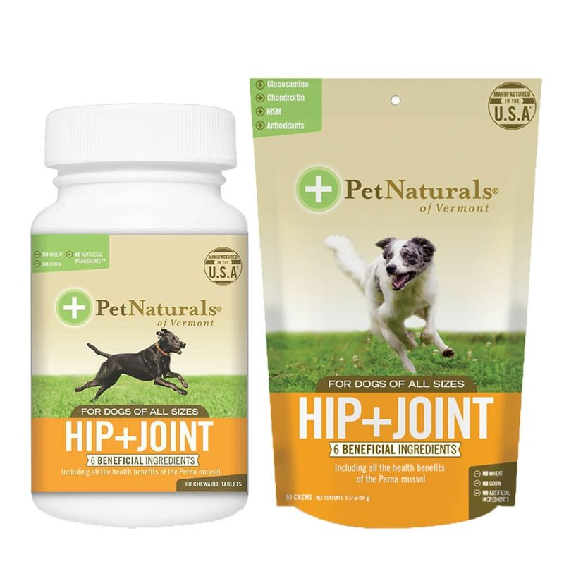 Pet naturals of vermont hip joint dog supplement for