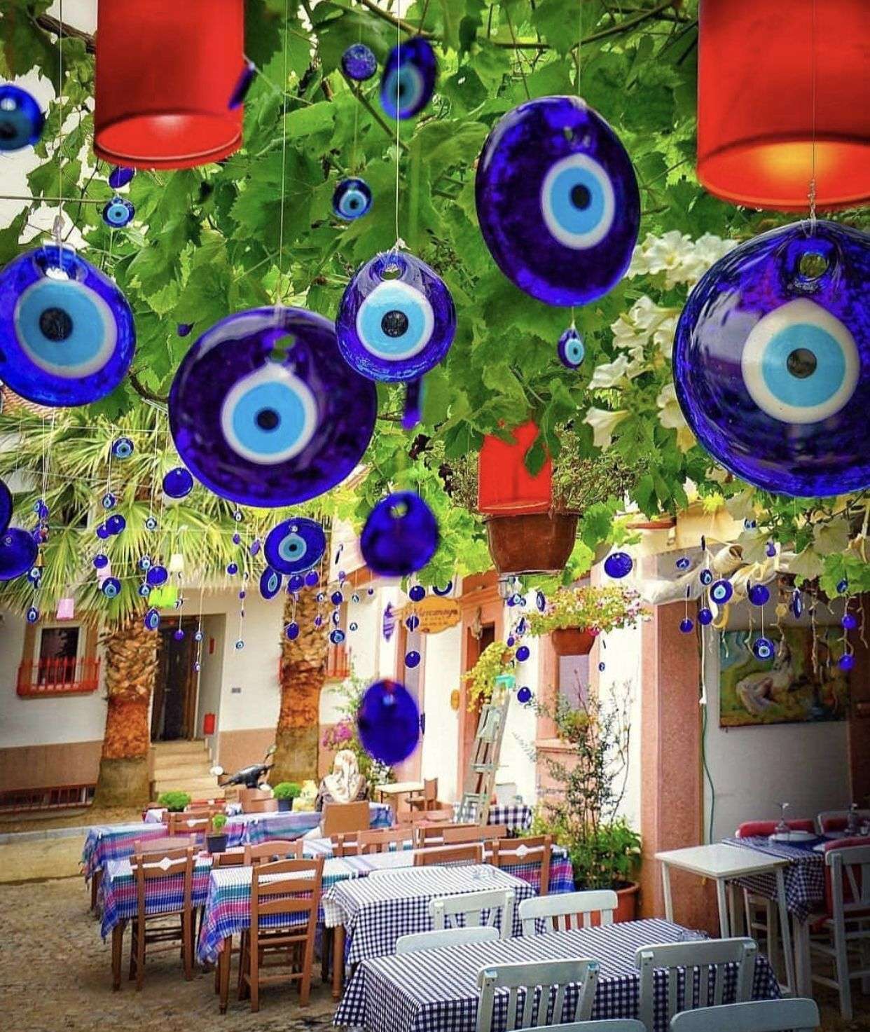 Evil Eye Beads Evil Eye Wall Hanging Evil Eye Tree Decor Etsy Tree Decor Greek Blue Eye Decor