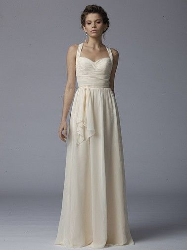Pin to Win a Wedding Gown or 5 Bridesmaid Dresses! Simply pin your favorite dresses on www.forherandforhim.com to join the contest! | Pleated Chiffon Dress $164.99