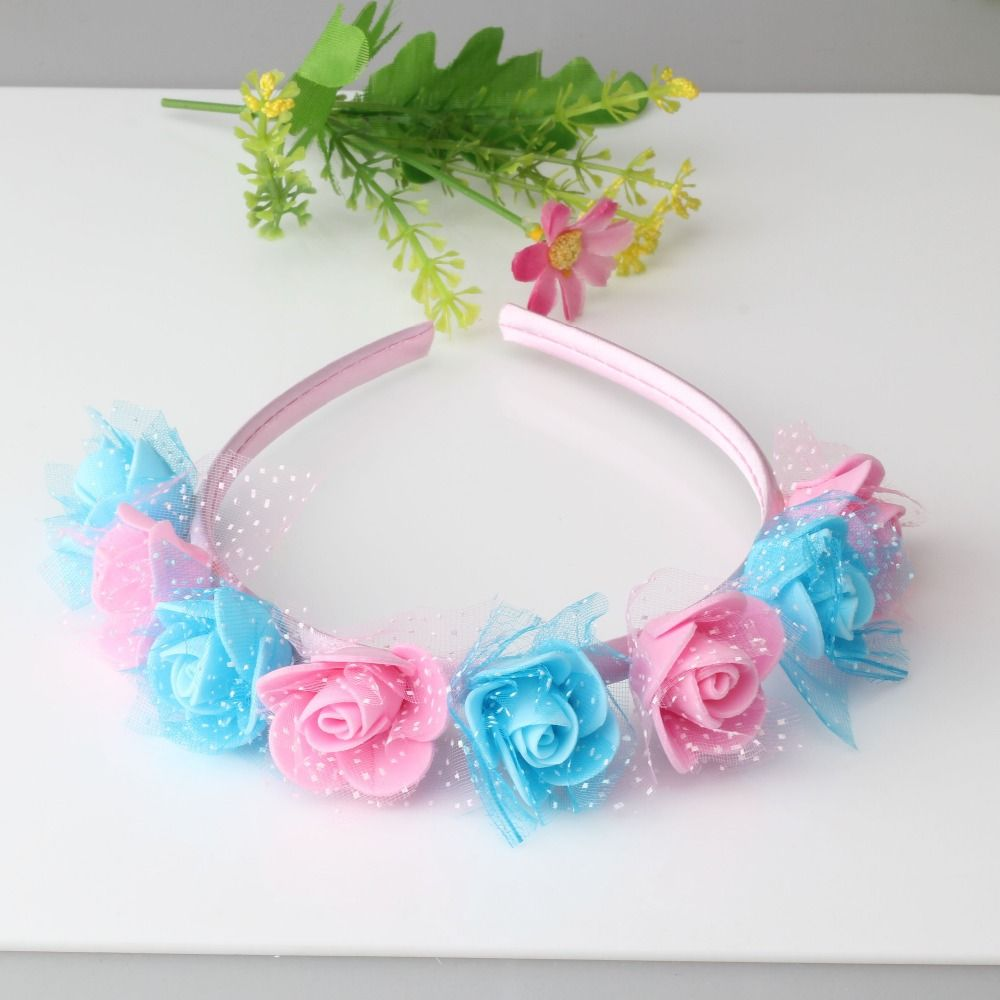 Lace Bow Headwrap Stretch Baby Headbands Fabric Lace Bow For Girls