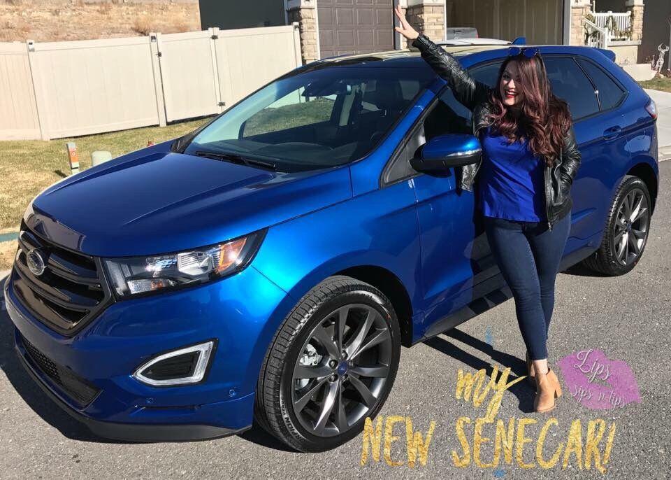 My bright blue Senecar! 2018 Ford Edge sport, a huge goal