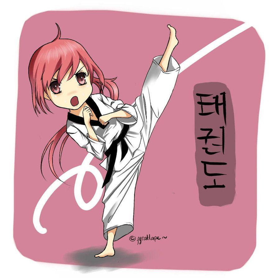 Pin By Ronald Shaw On Tae Kwan Doo Taekwondo Girl Karate Girl Cute Cartoon Girl