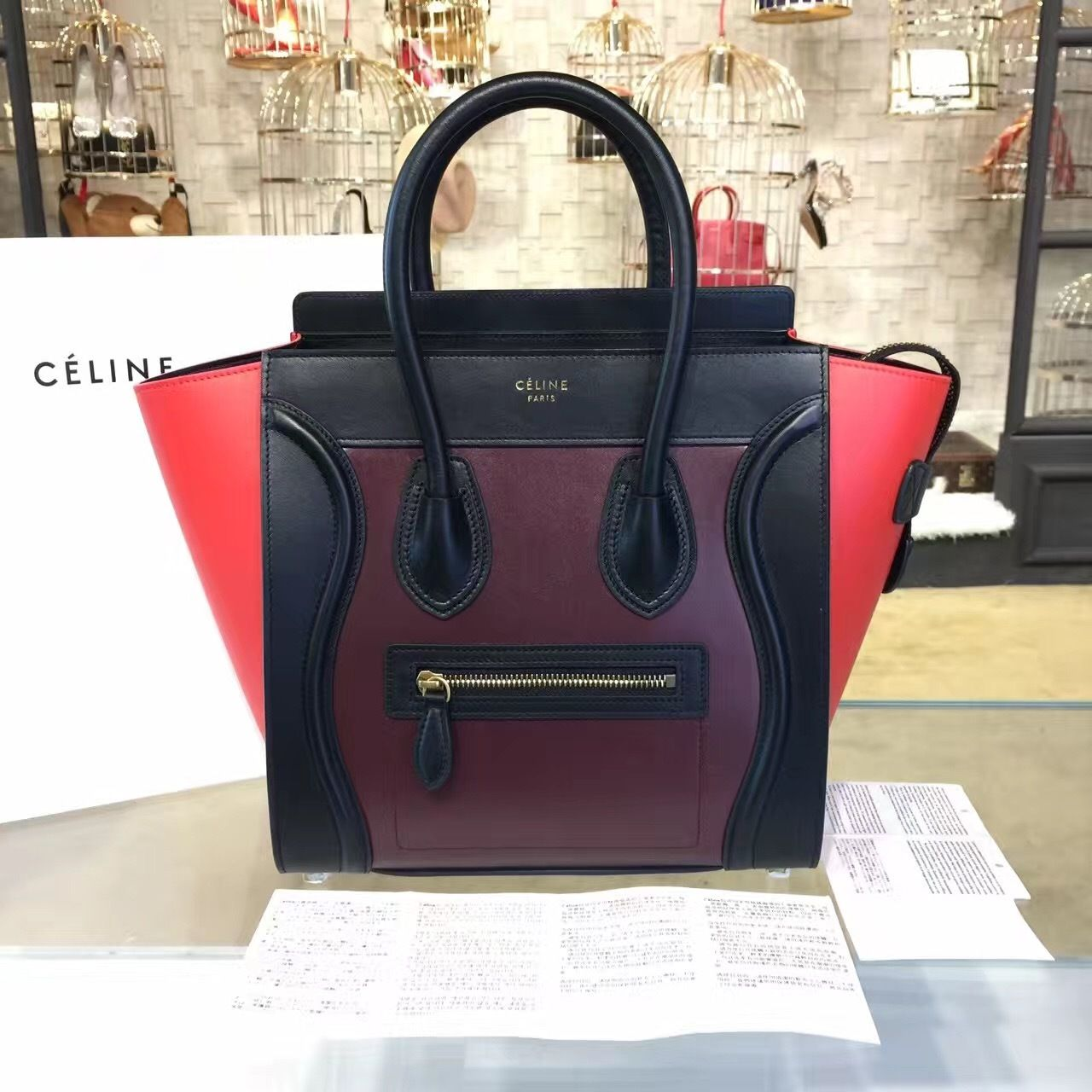 a3baf26892 Celine Micro Luggage Bag Calfskin Leather Fall Winter 2016 Collection
