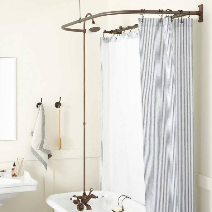 Clawfoot Tub to Shower Conversion Kits Signature Hardware My