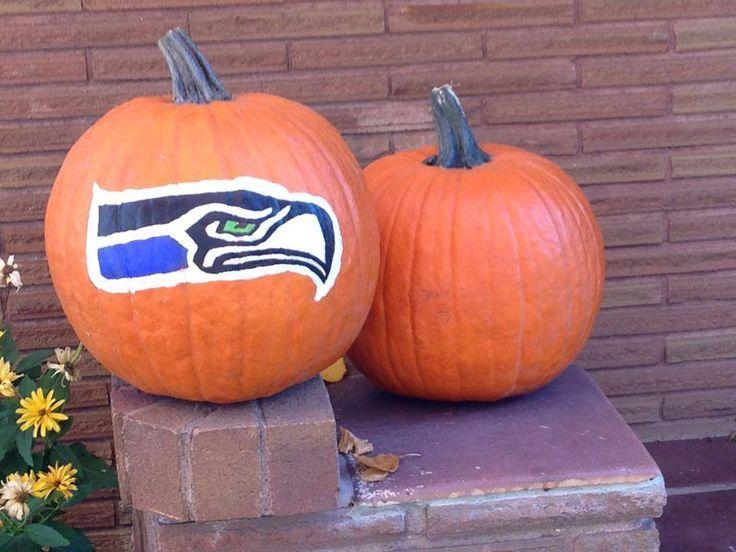 Painted Seahawk Pumpkin Football Pinterest Pumpkin ideas - halloween pumpkin painting ideas