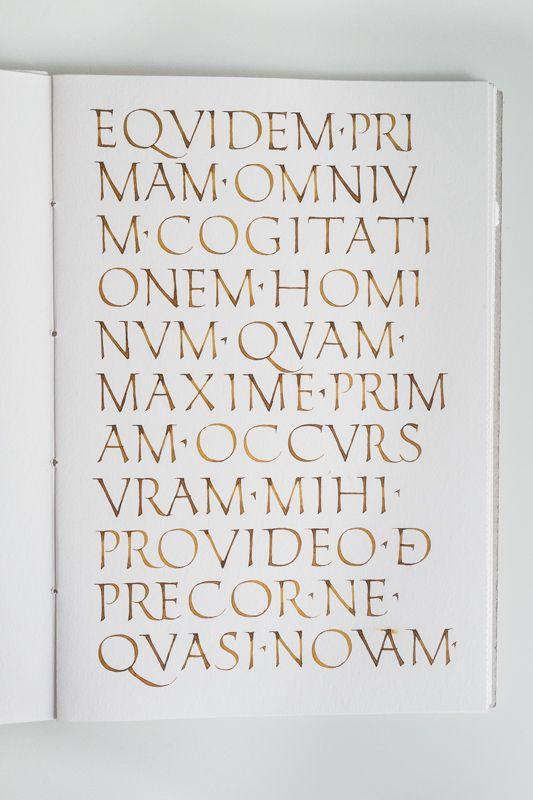 Roman capitals study - Joan Quirós calligraphy