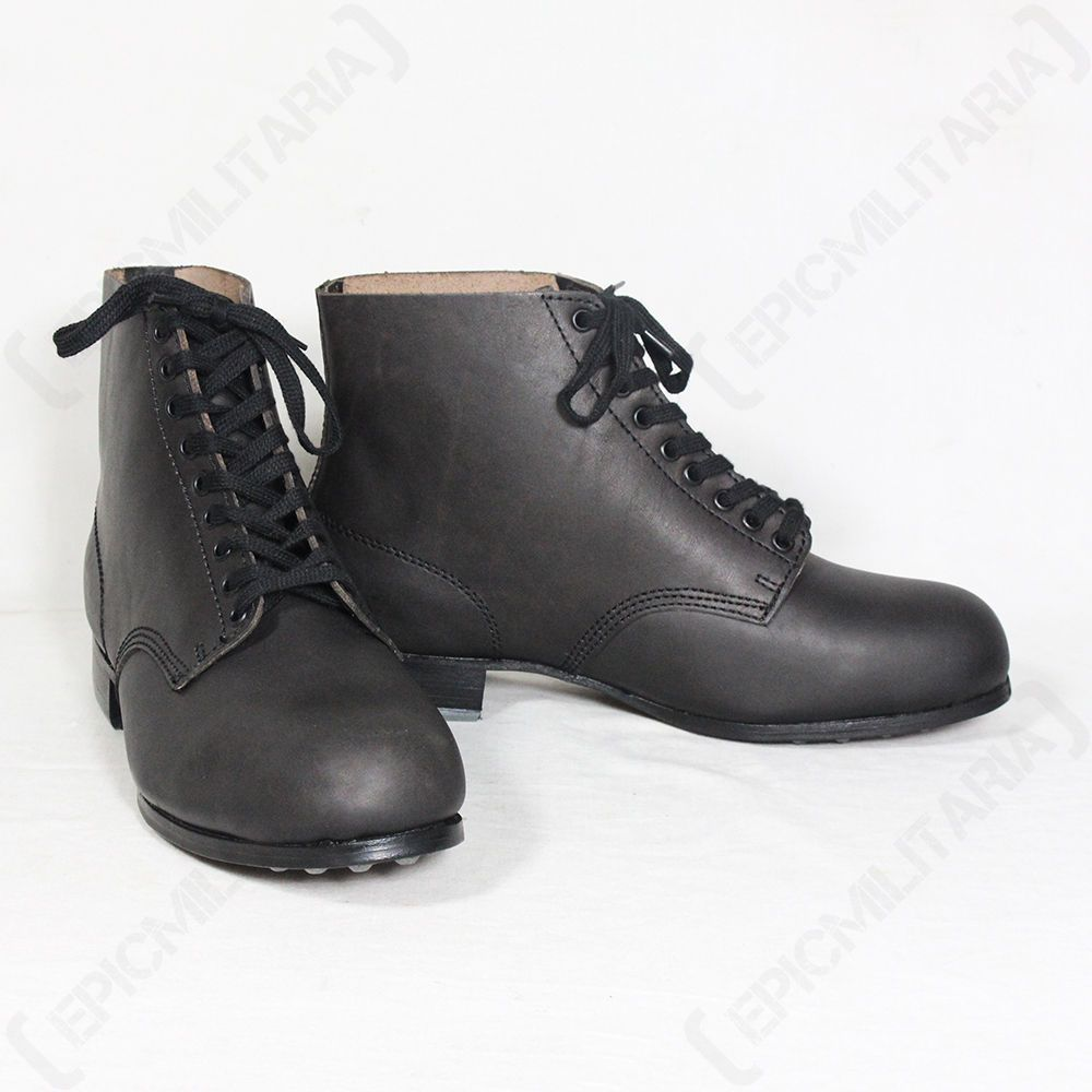 6c12b9bfd1c Details about German Combat Low Boots - WW2 Repro Army Military ...